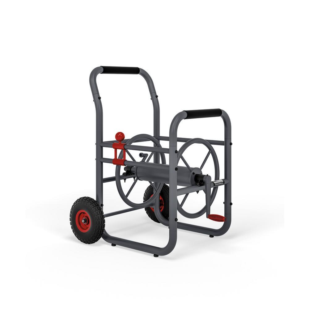 Details About Suncast Commercial 200 Ft Garden Water Hose Reel Cart Wheels Professional Grade