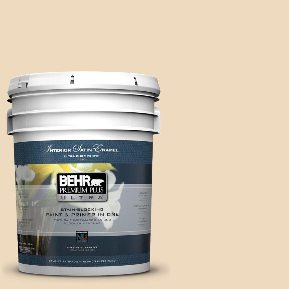 BEHR Premium Plus Ultra 5-gal. #UL150-7 Light Incense Satin Enamel Interior Paint