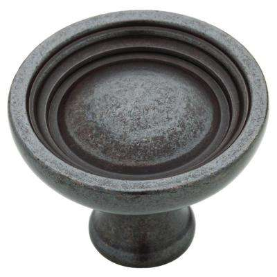 Bowl 1-1/2 in. (38mm) Soft Iron Round Cabinet Knob
