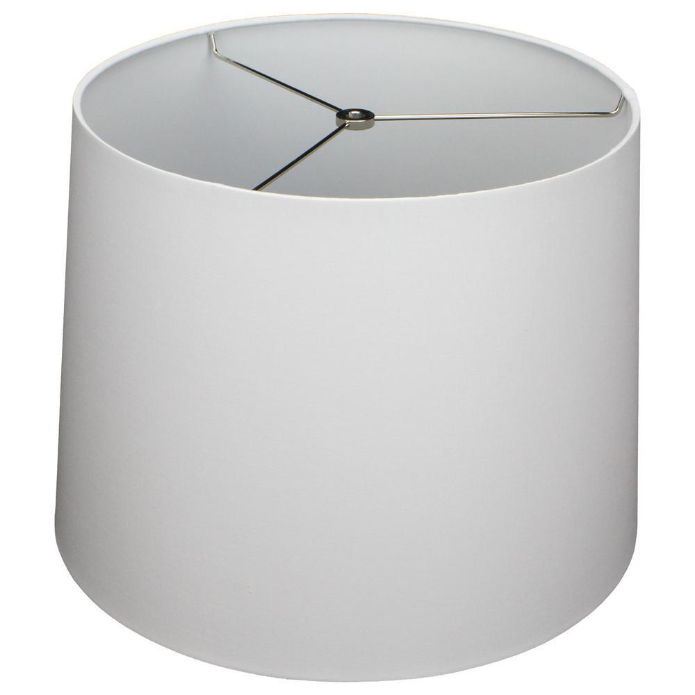 14 in. Top Diameter x 16 in. Bottom Diameter x 12 in. Slant Linen White Empire Lamp Shade