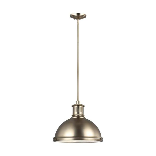Pratt Street Metal 3-Light Satin Brass Pendant