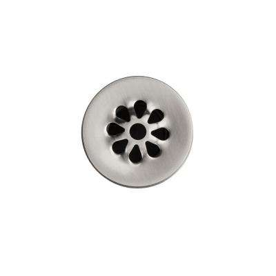 1.5 in. Non-Overflow Grid Bathroom Sink Drain, Brushed Nickel