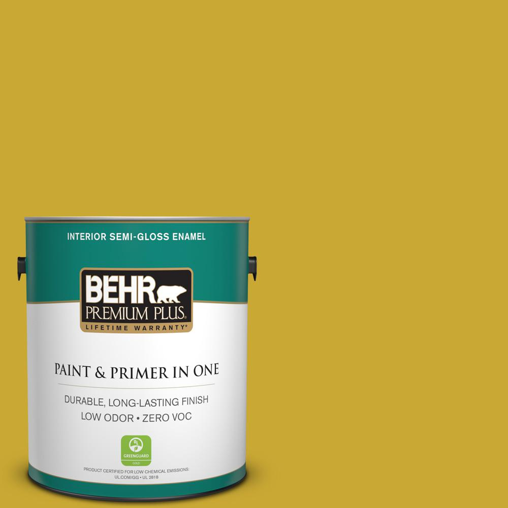 1-gal. #P320-7 Sweet and Sour Semi-Gloss Enamel Interior Paint