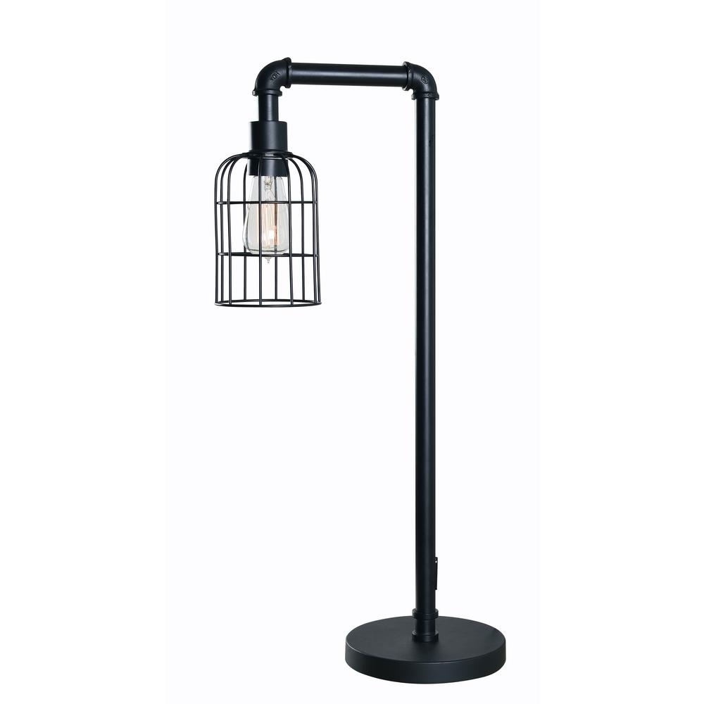 Kenroy Home Leavenworth 29 in. Bronzed Graphite Table Lamp with steel shade