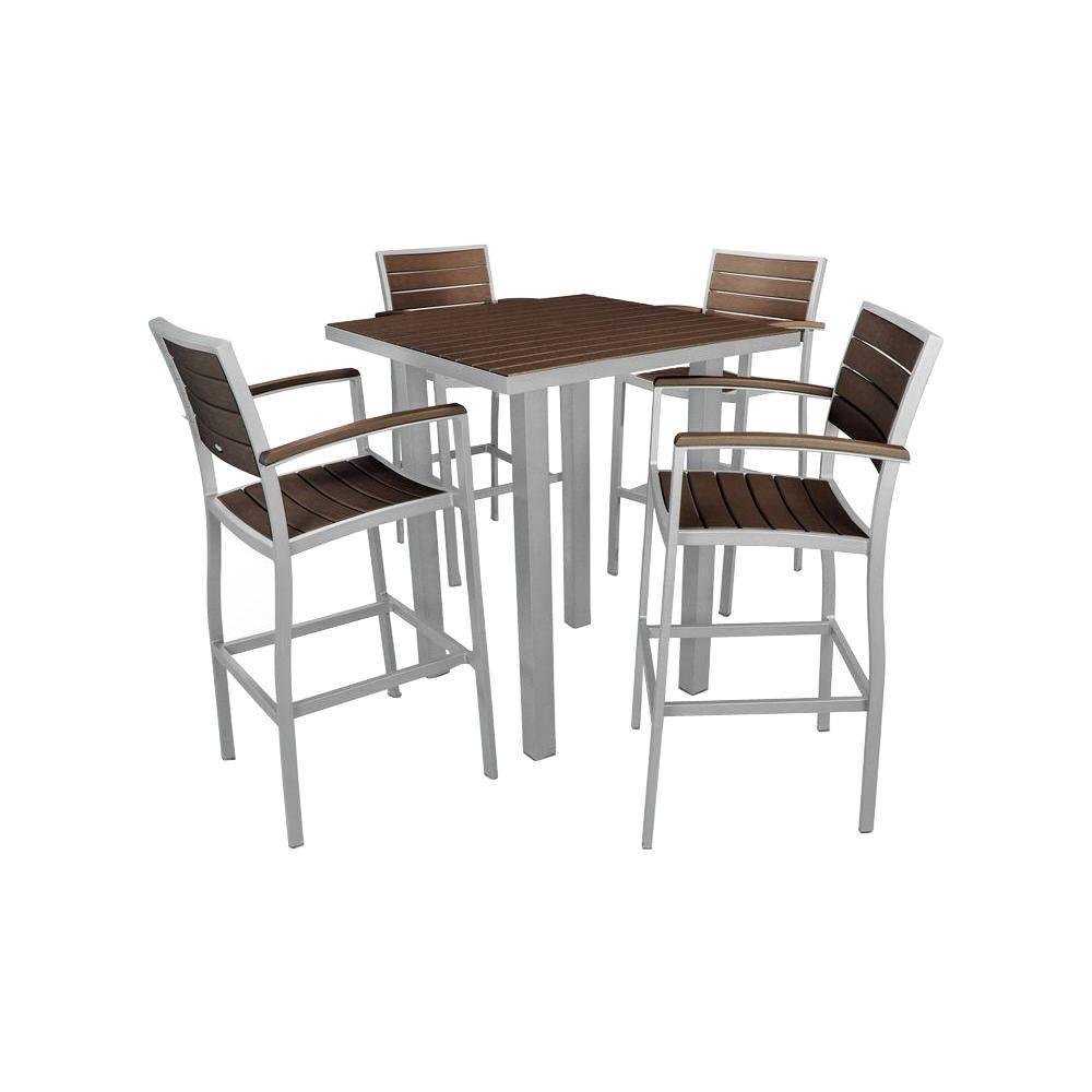 Plastic Bar Set Mahogany Slats