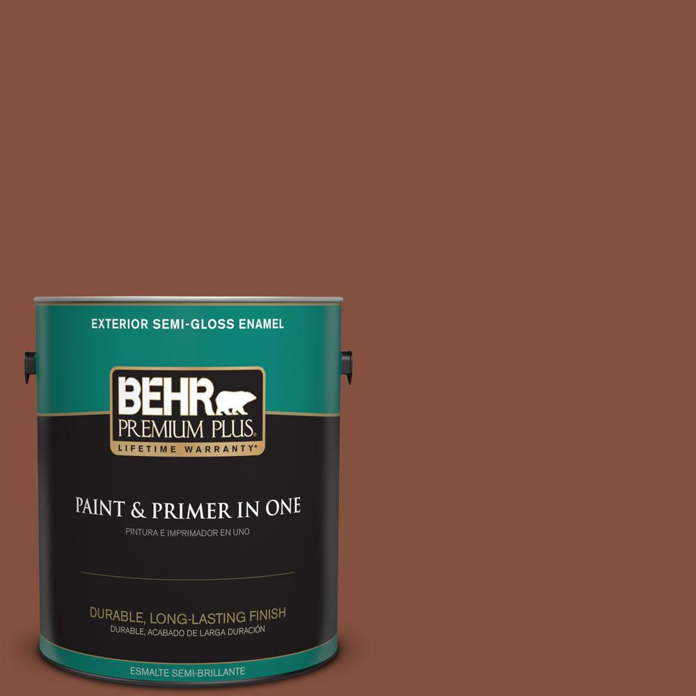 BEHR Premium Plus 1-gal. #T14-9 Hipsterfication Semi-Gloss Enamel Exterior Paint