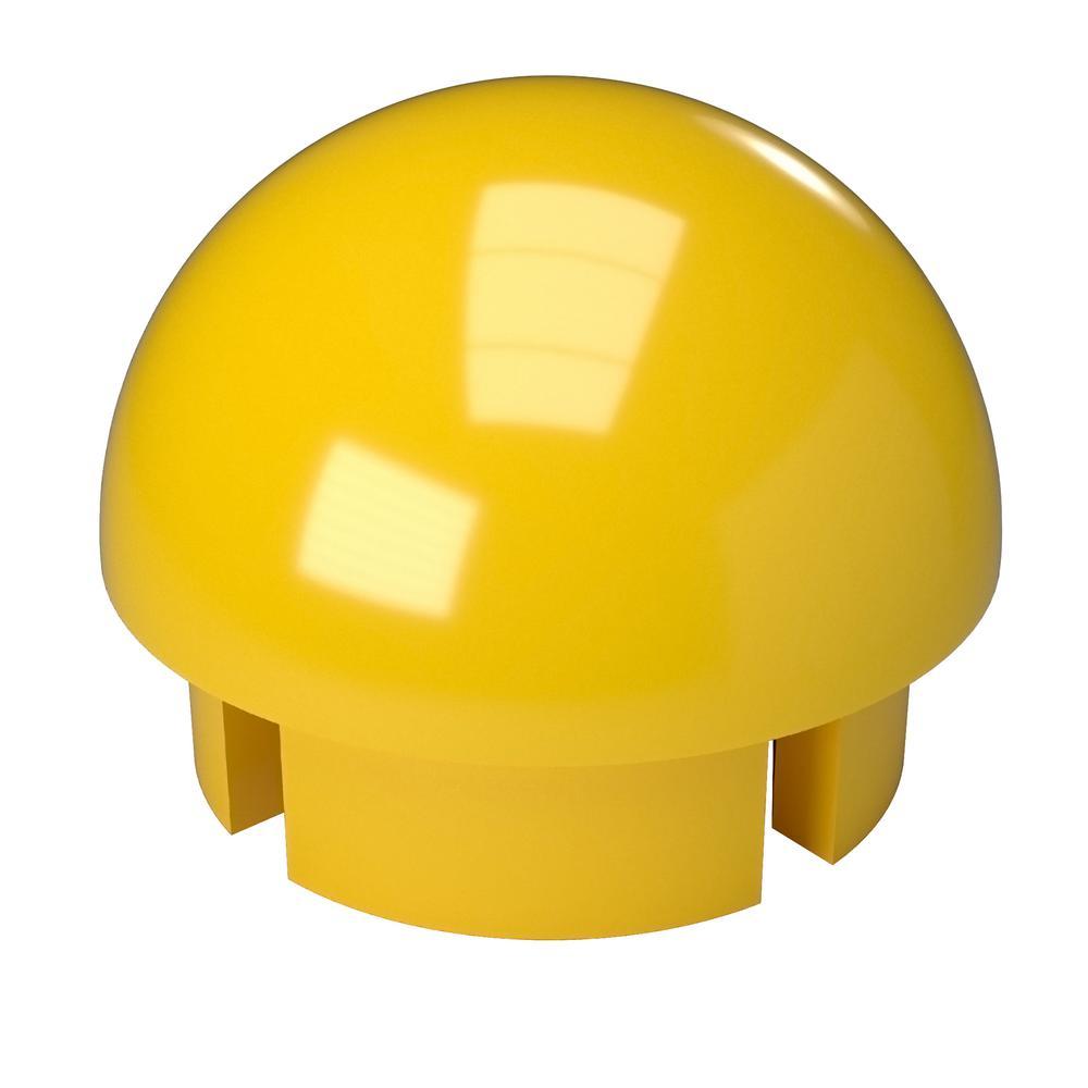 Formufit 1-1 4 in. Furniture Grade PVC Internal Ball Cap in Yellow ... 0832f1e4fd5