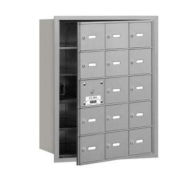 Aluminum USPS Access Front Loading 4B Plus Horizontal Mailbox with 15A Doors (14 Usable)