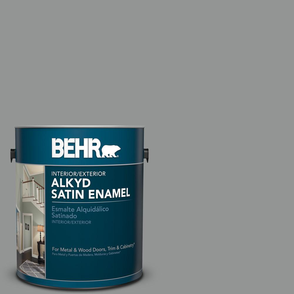 1 gal. #780F-5 Anonymous Satin Enamel Alkyd Interior/Exterior Paint