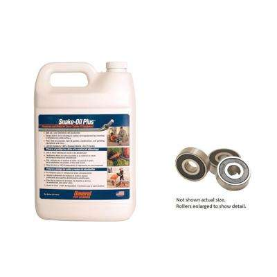Set of Feed Rollers for Mini-Rooter Power Cable Feed and 1 Gal. of Snake-Oil Plus