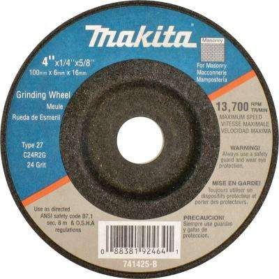 4 in. x 5/8 in. x 1/4 in. 24-Grit Grinding Wheel (25-Pack)