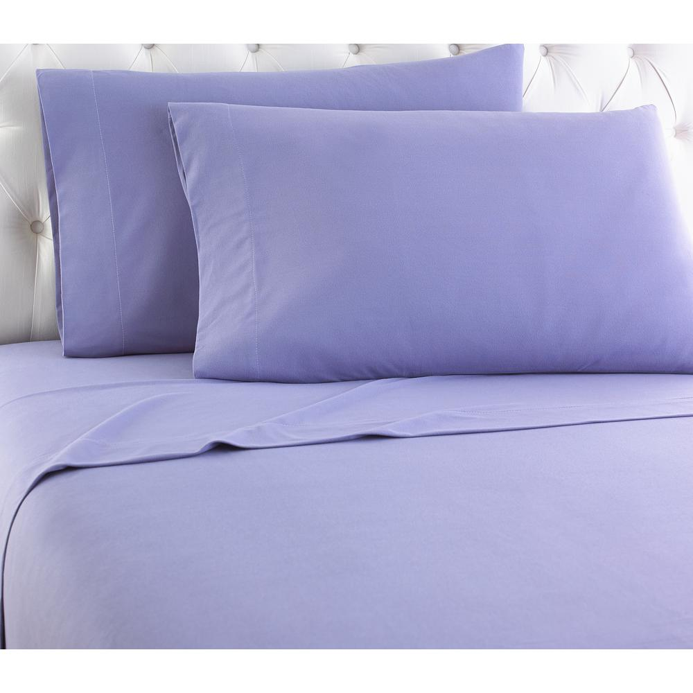 Micro Flannel Micro Flannel 4 Piece Amethyst Solid California King Sheet Set Mfnssckamt The Home Depot
