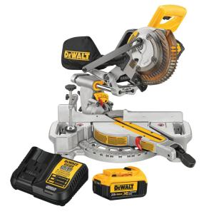 20-Volt MAX Cordless 7-1/4 in. Sliding Miter Saw with (1) 20-Volt Battery 4.0Ah