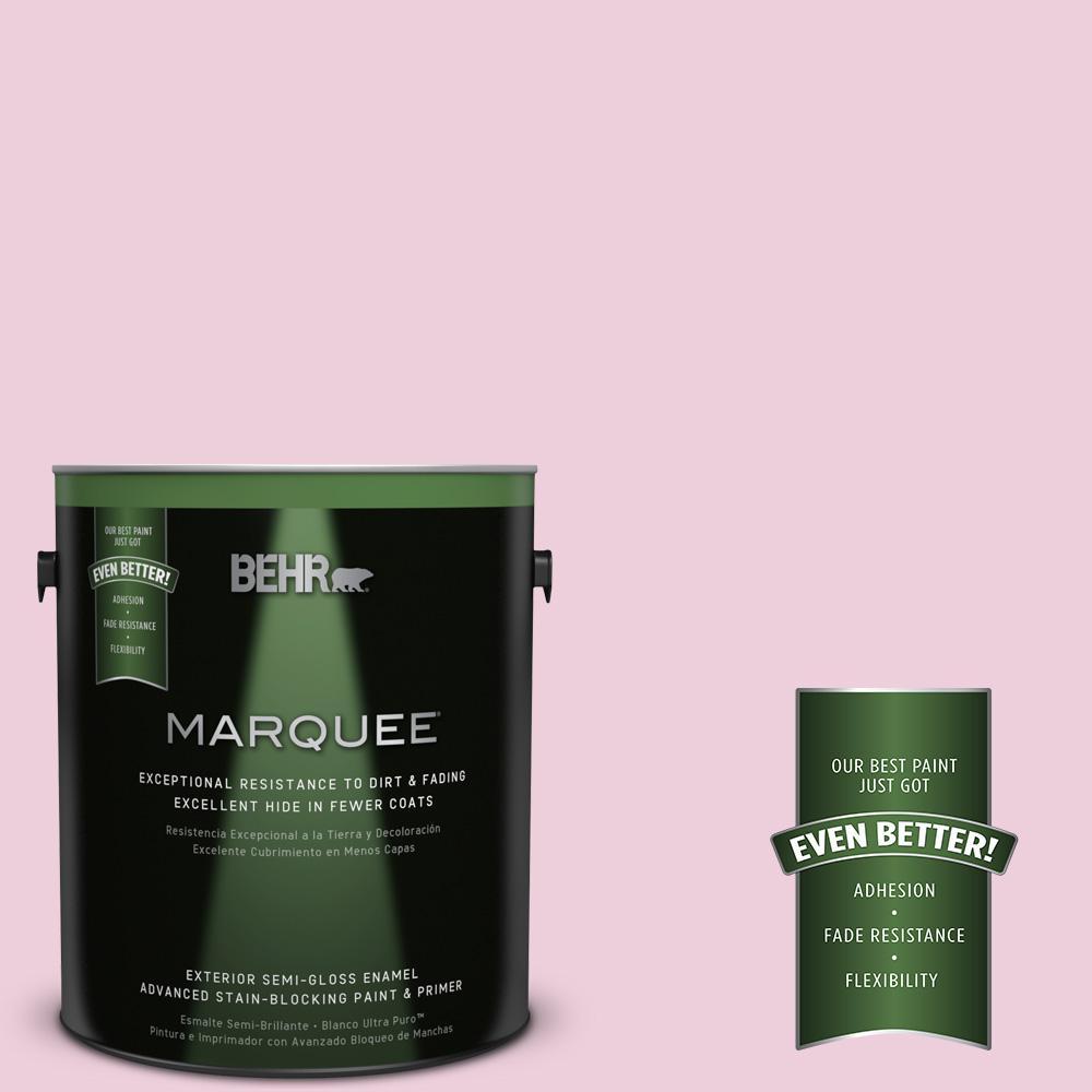 BEHR MARQUEE 1-gal. #M130-2 Creamy Freesia Semi-Gloss Enamel Exterior Paint