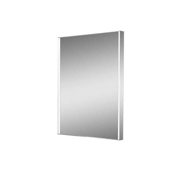 Zip 24 in. W x 32 in. H Lighted Impressions Frameless LED Wall Mirror in Aluminum