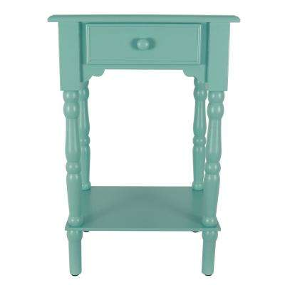 Blue Side Accent Table