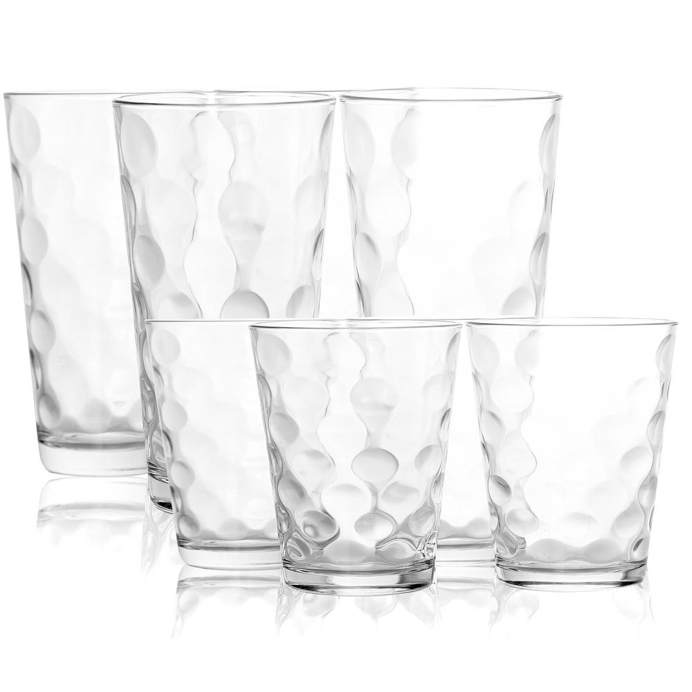 Opus 16.75 fl. oz. and 13 fl. oz. Clear Glass Double Old Fashioned And Cooler Glass Set (Set of 16)