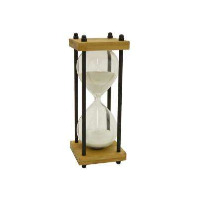 Bamboo/Glass 15-Minute Sand Timer