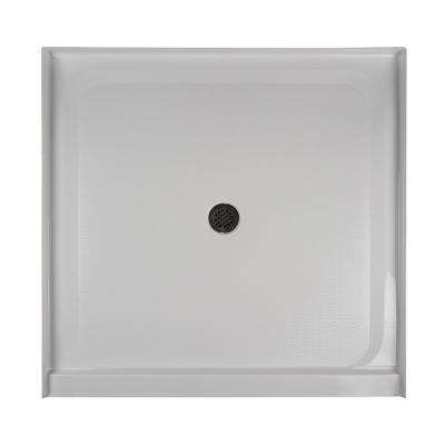 48 in. x 48 in. Center Drain 3.19 in. Shower Base in White