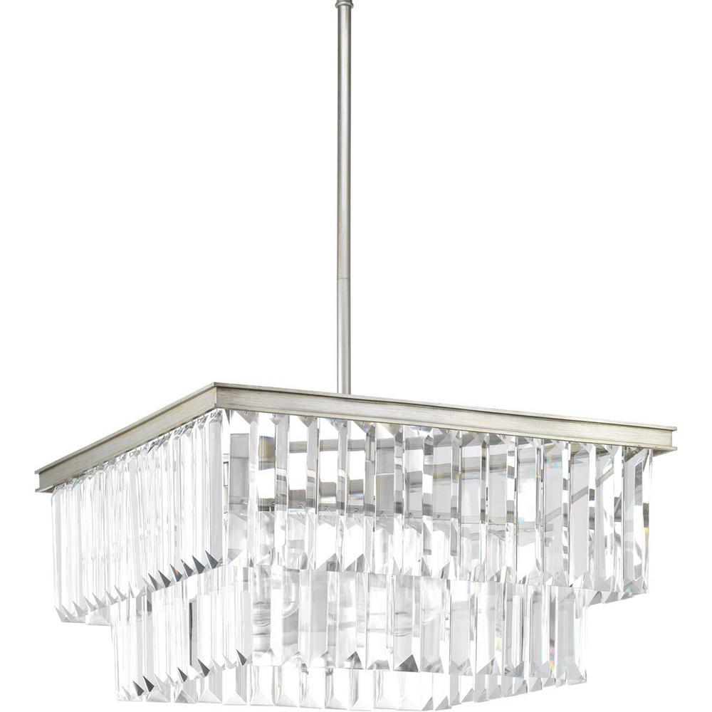 Glimmer Collection 4-Light Silver Ridge Pendant