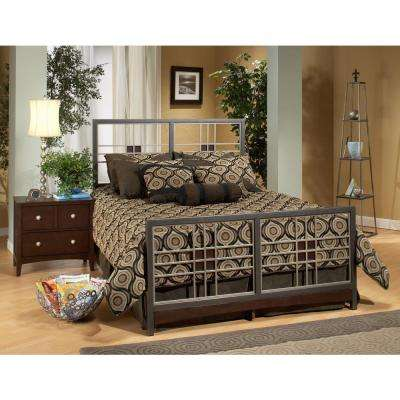 Tiburon Magnesium Pewter Full Bed Frame
