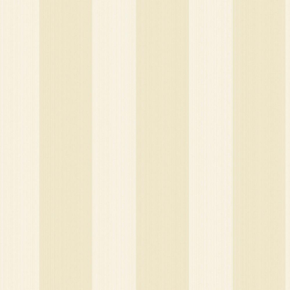 The Wallpaper Company 56 sq. ft. Pearl Essence Large Scale Stripe Wallpaper