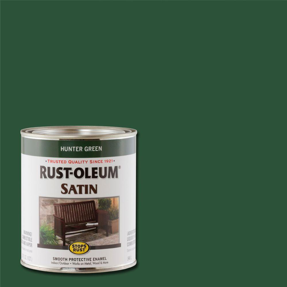 1 qt. Protective Enamel Satin Hunter Green Interior/Exterior Paint (2-Pack)