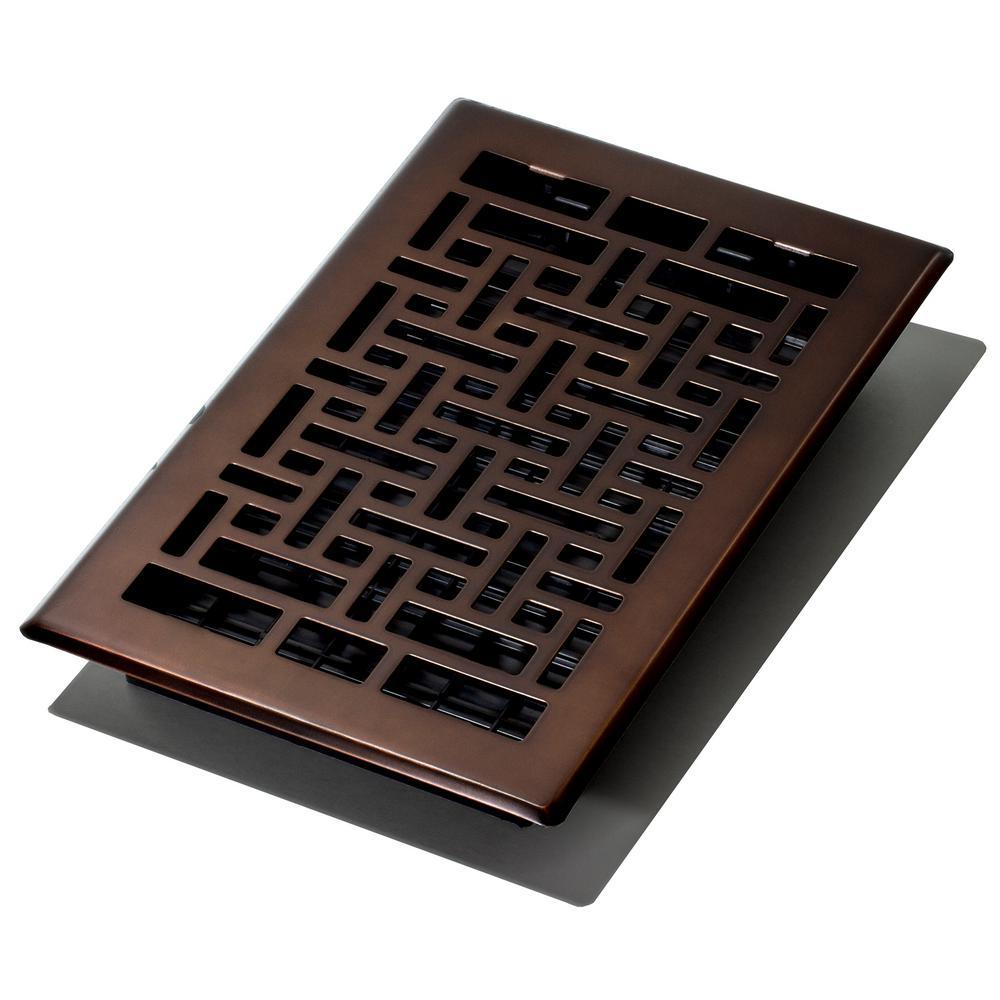 6 in. x 10 in. Oriental Bronze Floor Register