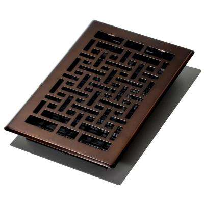 6 in. x 10 in. Oriental Bronze Floor Register