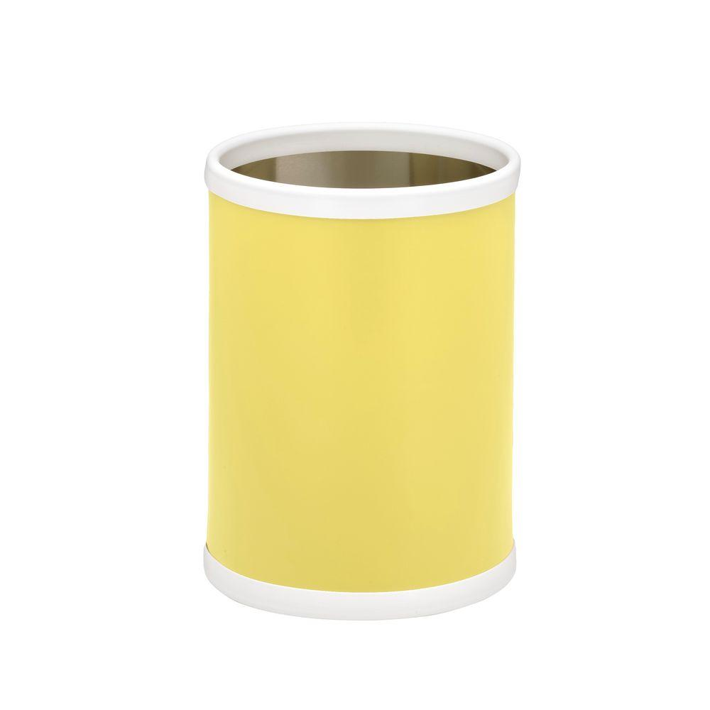 Fun Colors 8 Qt. Lemon Round Waste Basket