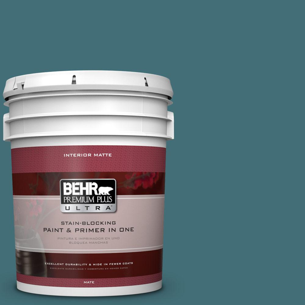 BEHR Premium Plus Ultra 5 gal. #520F-6 Cathedral Flat/Matte Interior Paint