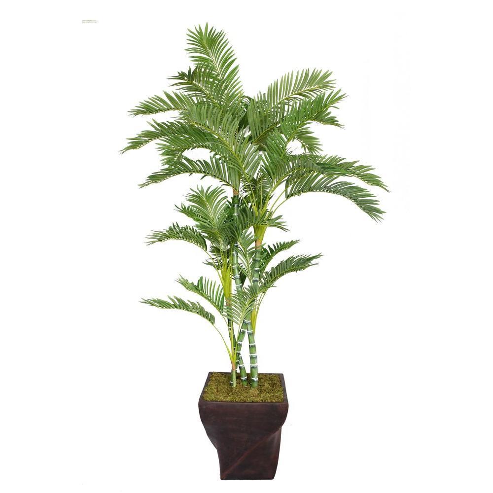82 in. Tall Palm Tree in 17 in. Fiberstone Planter
