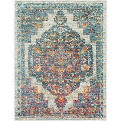 Caius Blue 3 ft. 11 in. x 5 ft. 11 in. Oriental Area Rug