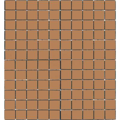 Coffeez Cappuccino-1102 Mosaic Recycled Glass 12 in. x 12 in. Mesh Mounted Floor & Wall Tile (5 sq. ft. / case)