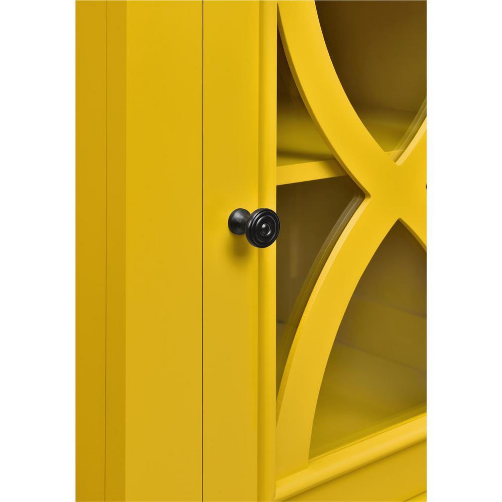 Altra Furniture Ellington 1 Door Yellow Accent Cabinet-5031496COM ...