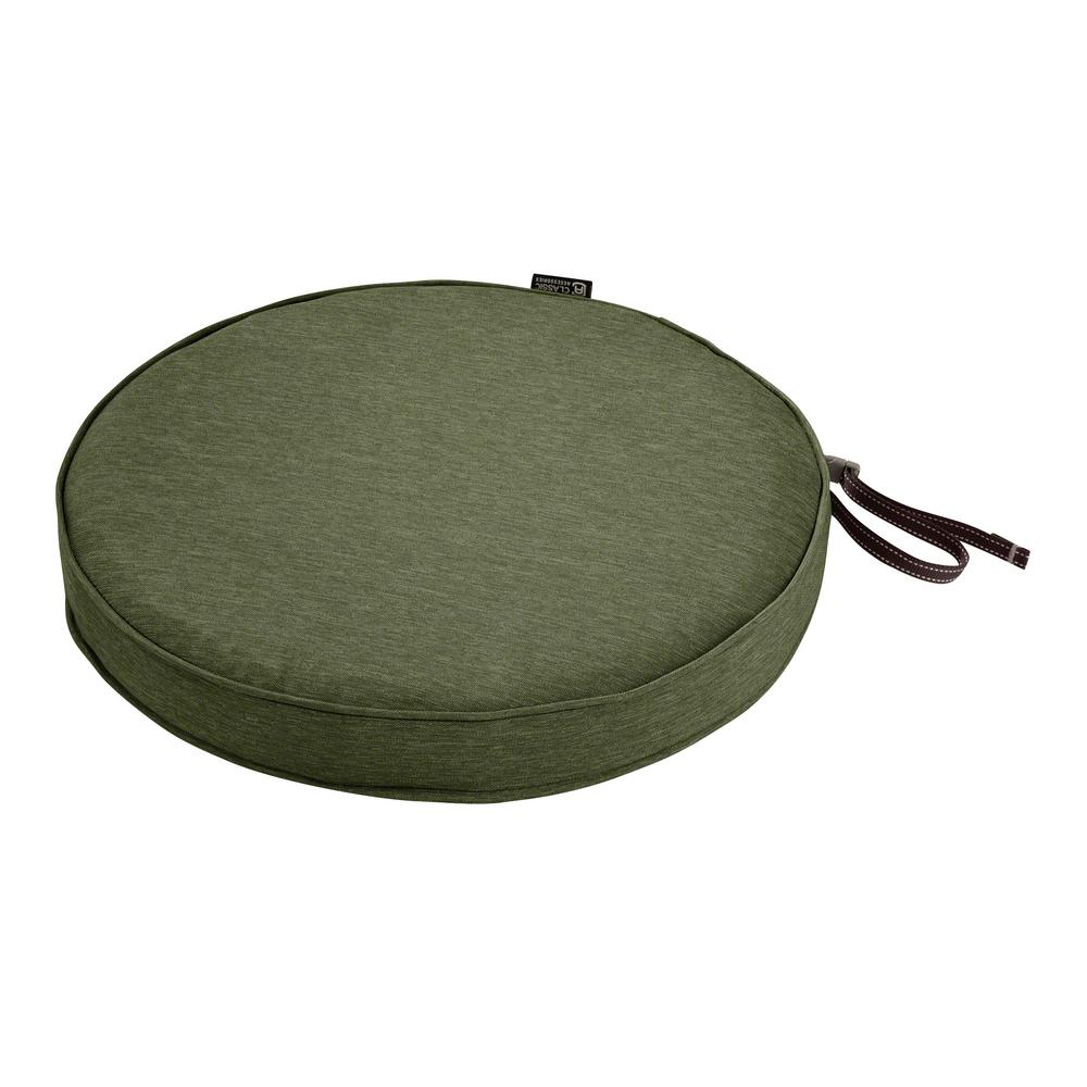 Classic Accessories Montlake Fade Safe Heather Fern 18 In. Round Outdoor  Seat Cushion 62 003 HFERN EC   The Home Depot
