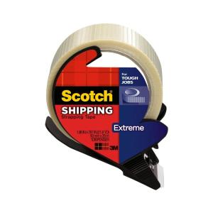 Scotch 1.96 in. x 21.8 yds. Extreme Shipping Strapping Tape with Dispenser