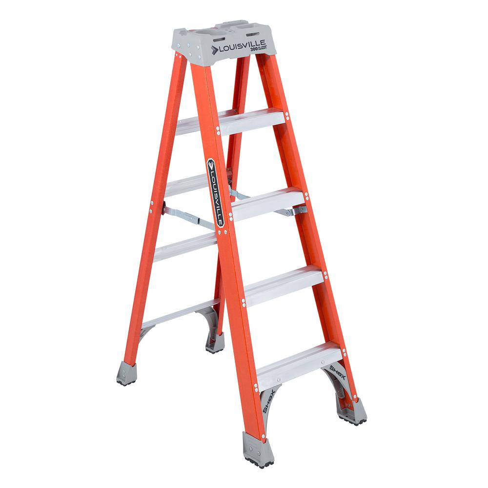5 ft. Fiberglass Step Ladder with 300 lbs. Load Capacity Type