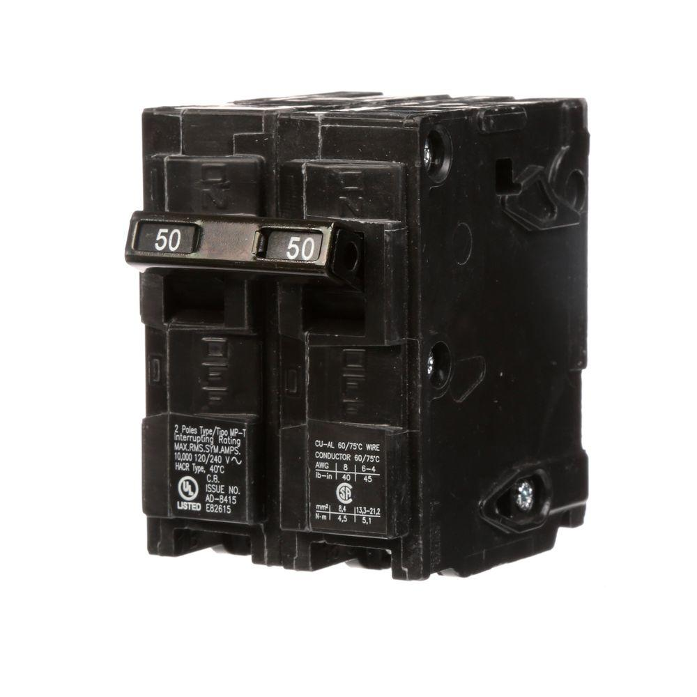 50 Amp Double-Pole Type MP Circuit Breaker