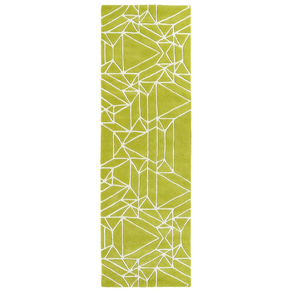 Kaleen Origami Lime Green 3 ft. x 8 ft. Runner Rug