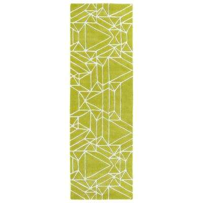 Origami Lime Green 3 ft. x 8 ft. Runner Rug