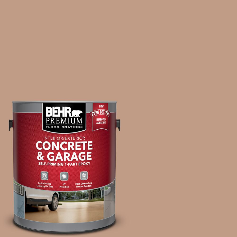 BEHR Premium 1 gal. #S200-4 Chestnut Bisque Self-Priming 1-Part Epoxy Satin Interior/Exterior Concrete and Garage Floor Paint