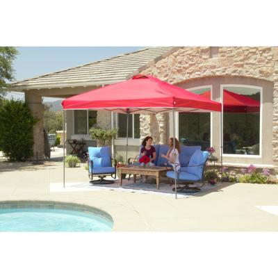 NS-100 10 ft. x 10 ft. Red Instant Canopy Pop Up Tent