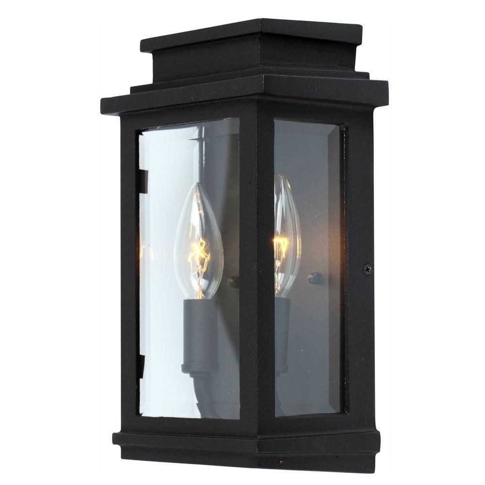 Moravia 2-Light Black Outdoor Sconce