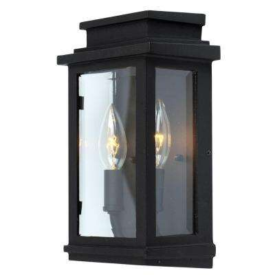 Freemont 2 - Light Black Outdoor Wall Lantern