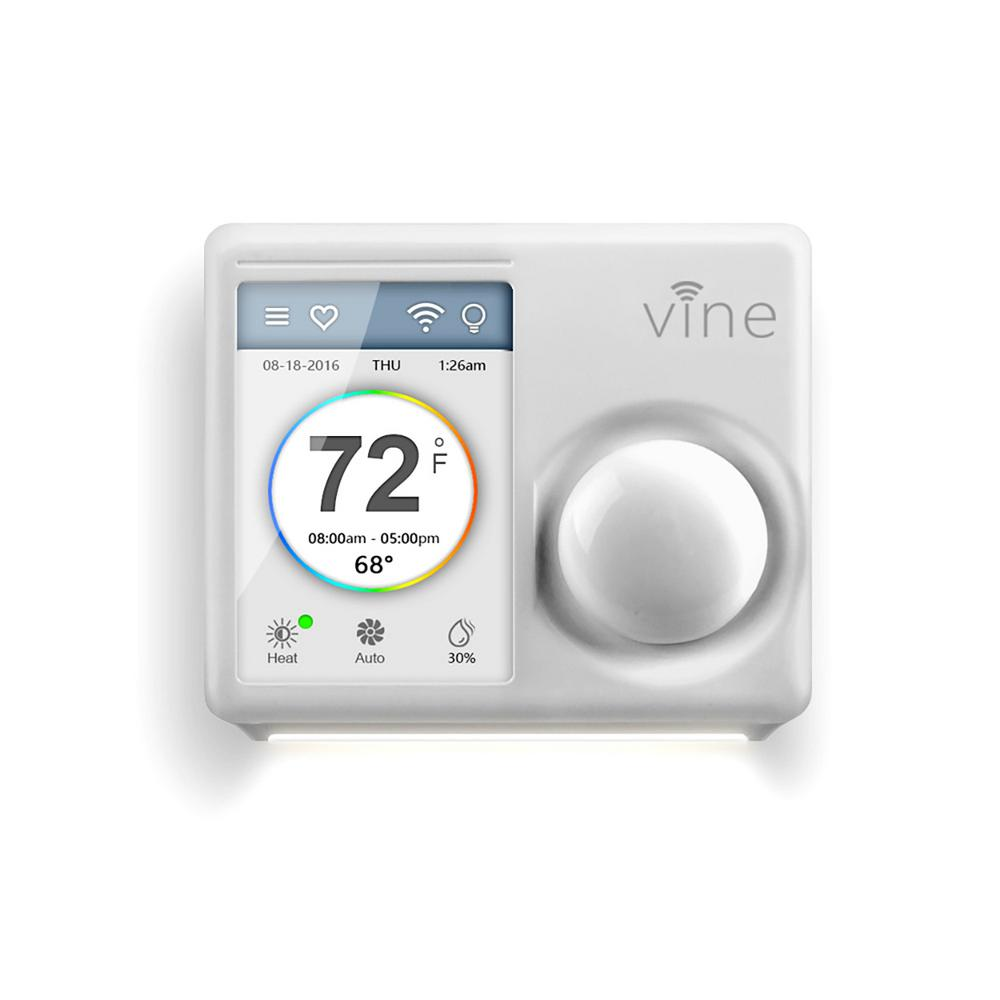 Vine Smart Wi Fi Thermostat Wtouchscreen: Vine 7-Day Wi-Fi Smart Programmable Thermostat With 3.5 In