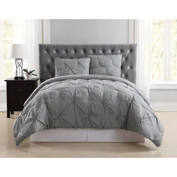 Truly Soft Everyday 3-Piece Grey Full/Queen Duvet Cover Set