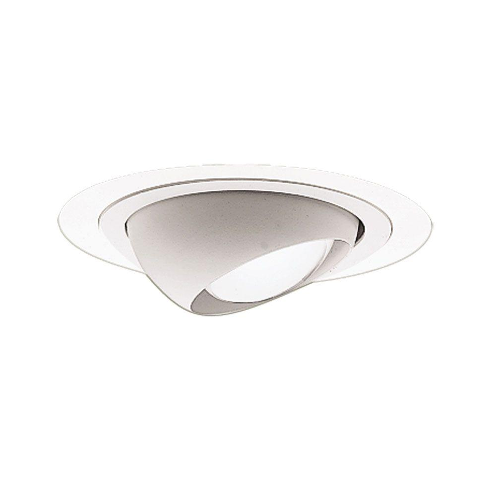 4 in white eyeball recessed trim 998p the home depot white eyeball recessed trim mozeypictures Gallery