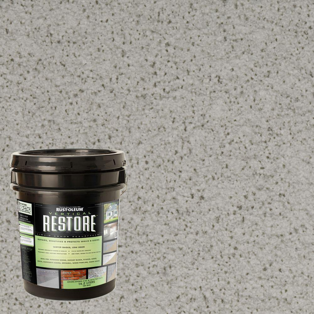 Rust-Oleum Restore 4-gal. Graywash Vertical Liquid Armor Resurfacer for Walls and Siding