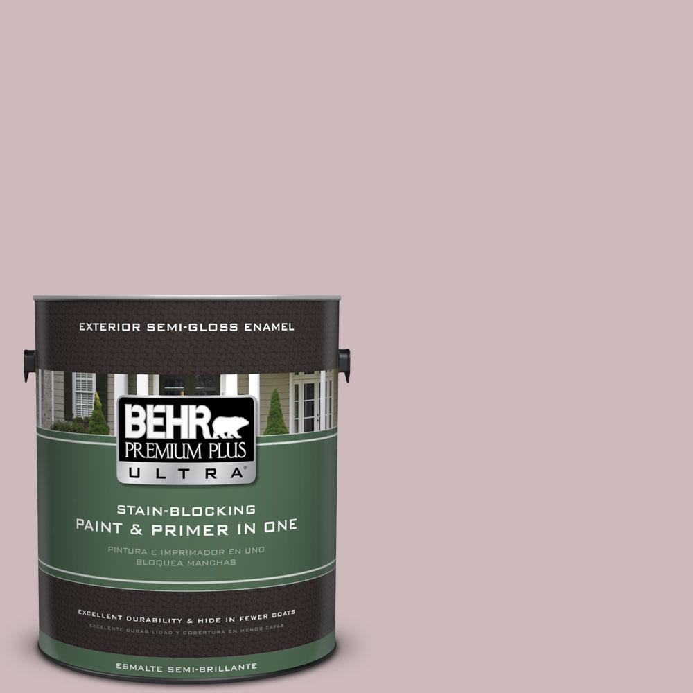 BEHR Premium Plus Ultra 1-gal. #N120-3 Mauve it Semi-Gloss Enamel Exterior Paint